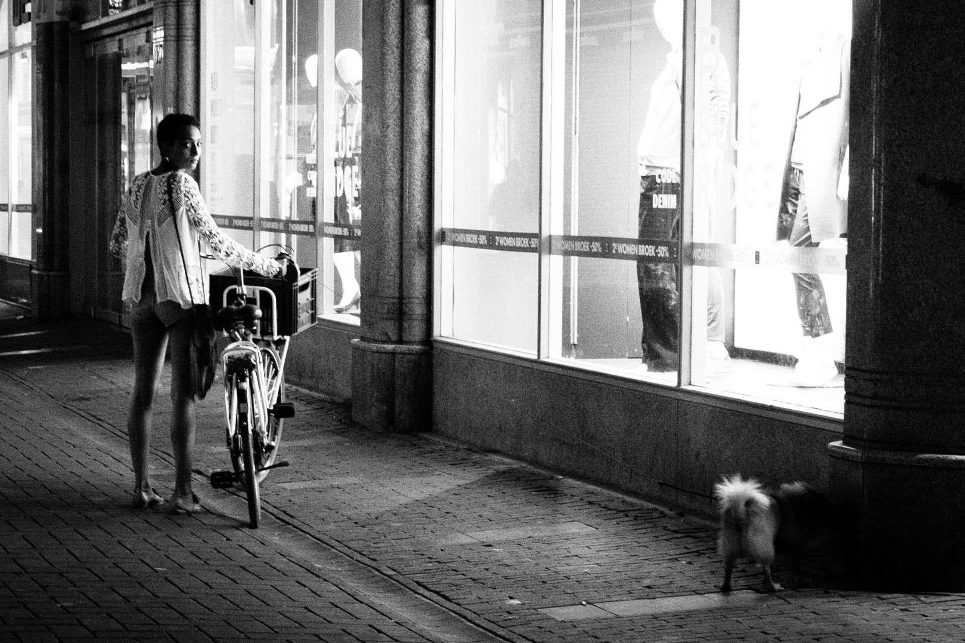 Women with bike and dog | Daily Observations Street Photography and Social Documentary